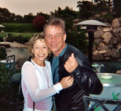 Luke Skywalker from Star Wars! Debi with Mark Hamill