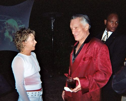 Debi with Hugh Hefner