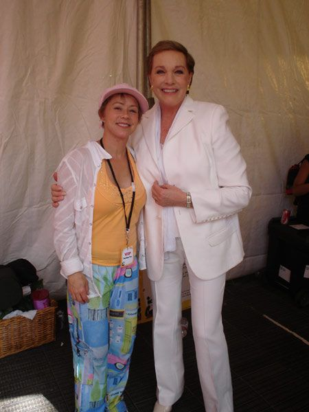 Debi with Julie Andrews at the Target UCLA Book Fair