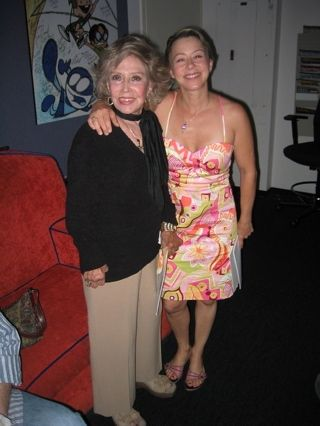 Me and June Foray (Rocky Squirrel)